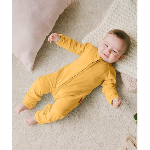 Foto Produk Takoyakids Essentials Azuki Zipper Sleepsuits Mustard - 0-3m dari Kottonville