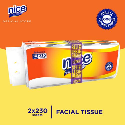 Foto Produk Beli 2 Lebih Hemat - Nice Tissue Toilet Roll Emboss 230 Sheets 10 Roll dari Paseo Tissue Official