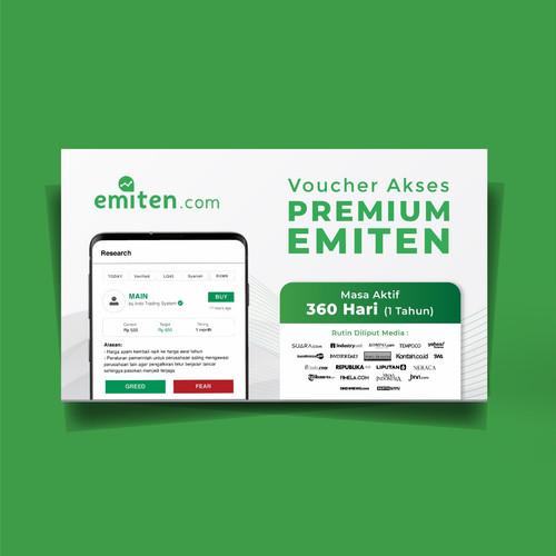 Foto Produk e-Voucher emiten.com Akses Member Premium 1 Tahun + Bonus dari emiten Aplikasi Analisa Rekomendasi Saham investor pemula