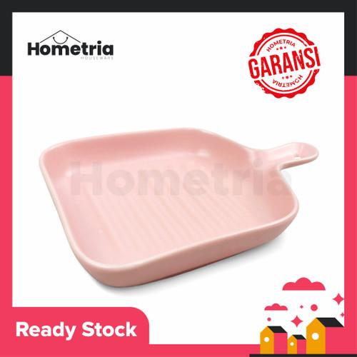 Foto Produk Ceramic plate handle piring saji keramik - Pink dari Hometria