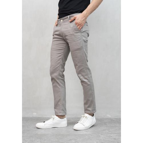 Foto Produk Celana Chino Panjang Pria Slim fit Stretch Jeans krem asap dari House of Cuff