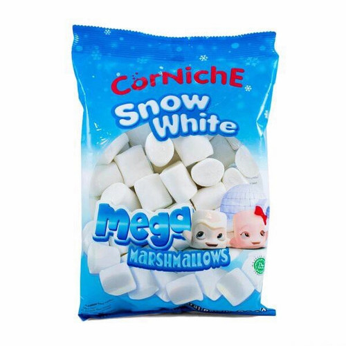 Foto Produk Corniche Snow White Mega Marshmallows 300gr | Marshmellow | Marsmellow - 120 gram dari Somura TBK