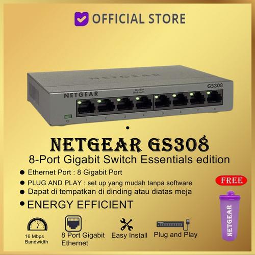 Foto Produk NETGEAR GS308 ( 8 Port Gigabit Ethernet Switch ) dari DUNIA COMPUTER & SERVICE