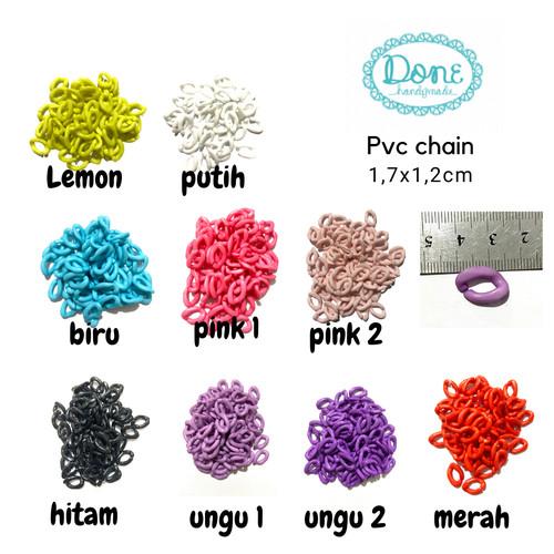 Foto Produk Rainbow chain akrilik rante warna warni rantai warna warni tali masker - Putih dari done handymade