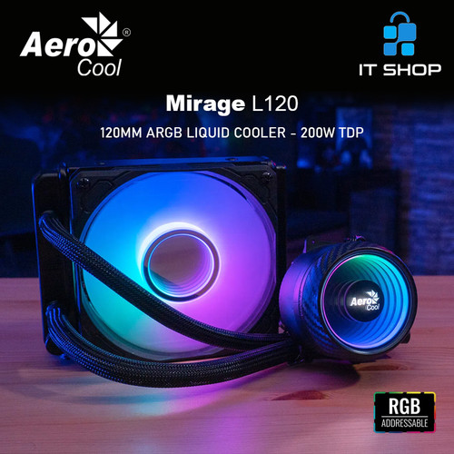 Foto Produk AeroCool Mirage L120 ARGB Liquid CPU Cooler dari IT-SHOP-ONLINE