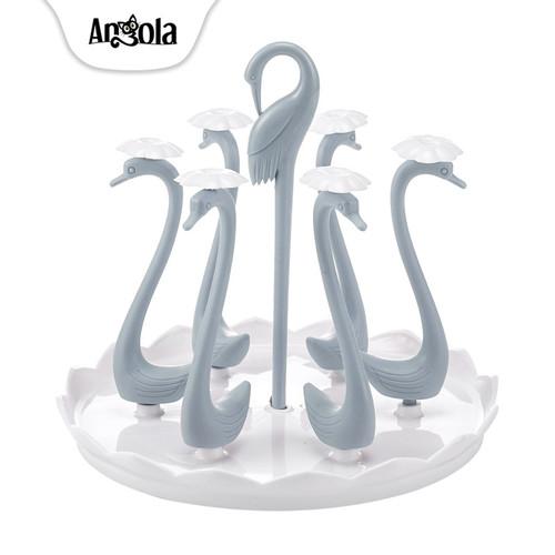 Foto Produk Rak Gelas Gantung C56 Mug Cup Holder Rak Cangkir Tempat Gelas - Biru dari Angola Official Store
