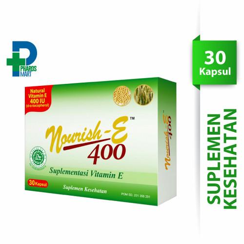Foto Produk Nourish-E 400 IU Vitamin E Supplemen Kesehatan - 30 Soft capsules dari Pharos Official Store