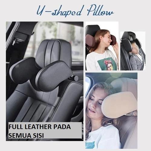 Foto Produk Headrest Neck Bantal Penyangga Kepala Leher Jok Mobil Travel Pillow - Cream dari RCmania Hobby