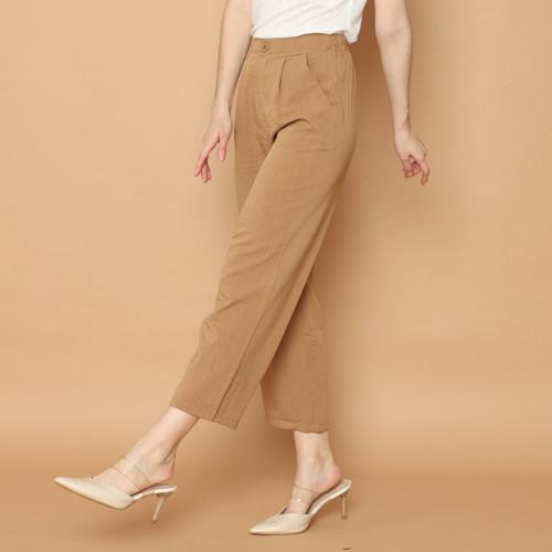 Foto Produk Cammomile 2102005 LG909 Cammomile Celana panjang bahan polos wanita - Brown, All Size dari Cammomile FashionLine