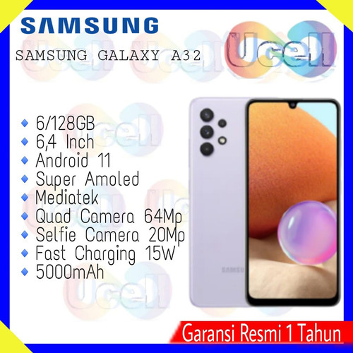 Foto Produk Samsung Galaxy A32 - 6/128GB , 8/128GB - Garansi Resmi - Hitam, 6/128GB dari ucell cempaka