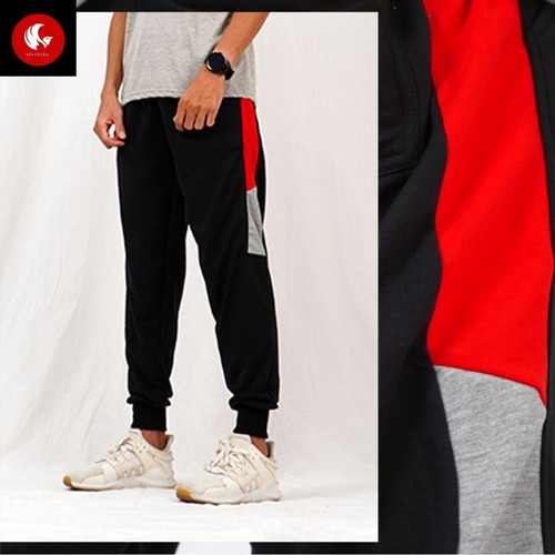 Foto Produk Okechuku TIMOTY Celana Panjang Pria Jogger Pants Joger Olahraga Unisex - Hitam, M fit to L dari Okechuku