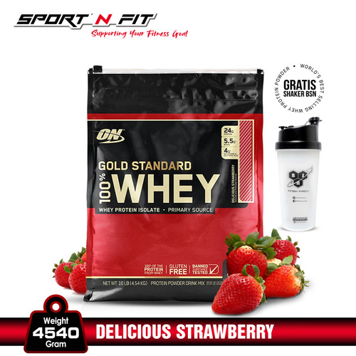 Foto Produk ON 100% Whey Gold Standard 10LB Strawberry dari Sport N Fit