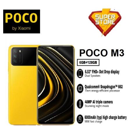 Foto Produk Poco M3 Ram 4/64 dan 6/128 - Garansi Resmi Xiaomi - Hitam, 6/128 dari Super Store