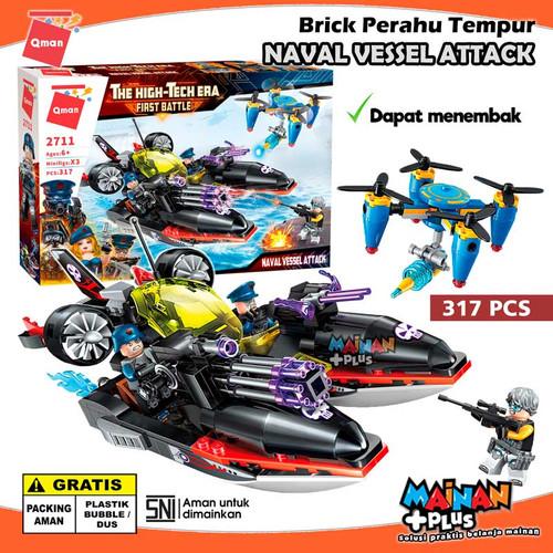 Foto Produk MAINAN BRICK LEGO QMAN PERAHU TEMPUR DRONE NAVAL VESSEL ATTACK SNI dari MainanPlus