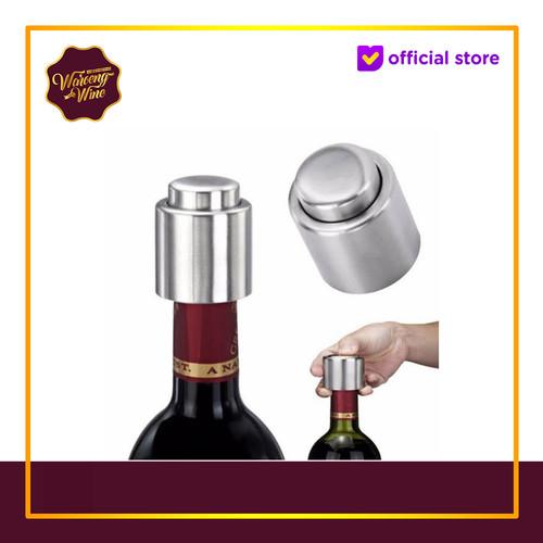 Foto Produk Wine Stopper Stainless Steel Bottle Stopper dari Waroeng Wine GS