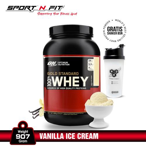 Foto Produk Optimum Nutrition 100% Whey Gold Standard 2Lb Vanilla Ice Cream dari Sport N Fit