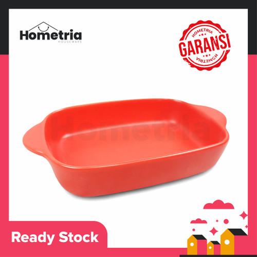 Foto Produk piring saji keramik tahan panas - Red dari Hometria