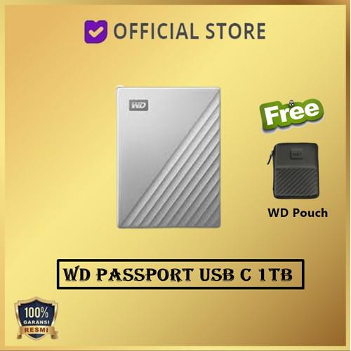 Foto Produk WD MY Passport Ultra USB-C 1TB USB Type C USBC USB C - Silver dari DUNIA COMPUTER & SERVICE