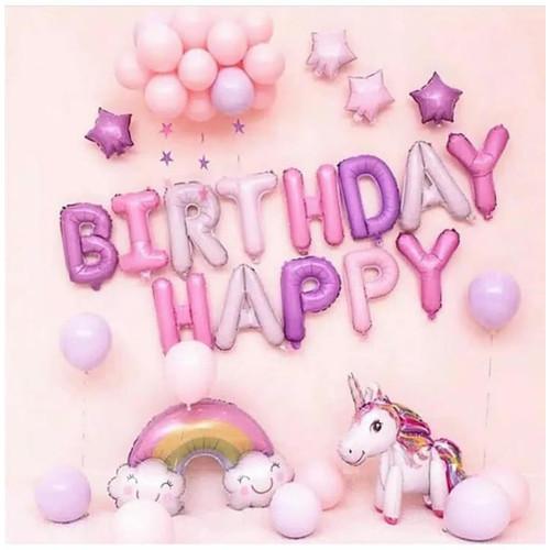 Foto Produk Paket Dekorasi Balon Ulang Tahun / Happy Birthday Pegasus / Unicorn 07 dari Reaw Store