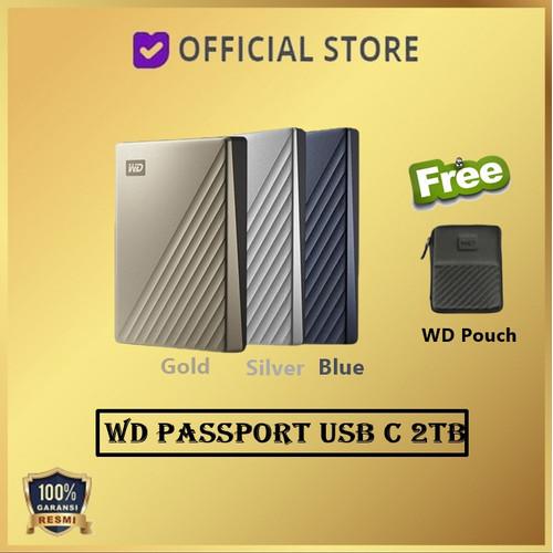 Foto Produk WD MY Passport Ultra USB-C 2TB USB Type C USBC USB C 2 TB - Silver dari DUNIA COMPUTER & SERVICE