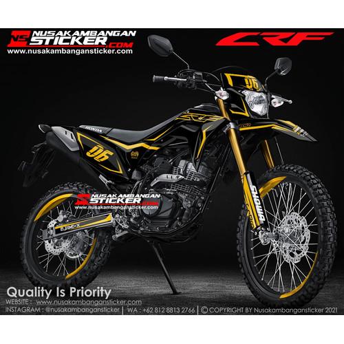 Foto Produk Stiker CRF Hitam Grafis Kuning dari Nusakambangan Sticker01