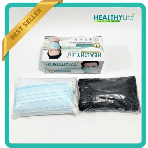 Foto Produk Masker 3ply Healthylife Mask 3ply 50's - Biru dari Healthylife Official