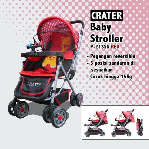 Foto Produk Stroller Kereta Bayi CRATER 213 - Merah dari Boss Baby Store