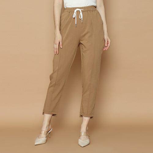 Foto Produk Cammomile 2102006 LG920 Celana panjang bahan wanita - Brown, All Size dari Cammomile FashionLine