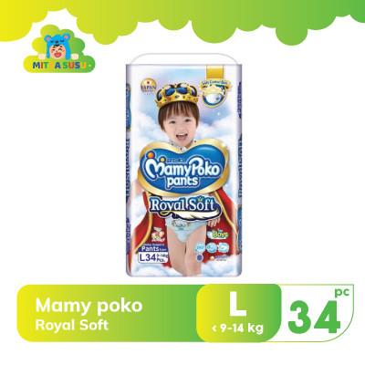 Foto Produk Mamy Poko Royal Soft L34 Boy dari mitrasusu