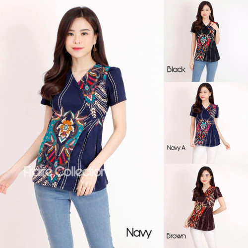 Foto Produk Baju Batik / Blouse Batik Wanita / Chany Top / bahan Katun dari Fraire Collection