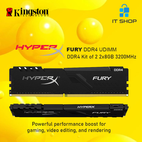 Foto Produk Kingston Memory Module Long Dimm HyperX Furry 16GB 8x2 DDR4 3200 MHz dari IT-SHOP-ONLINE