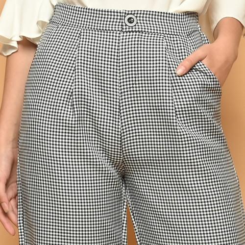 Foto Produk Cammomile 2102007 LG915 Celana panjang bahan kotak wanita - Black, All Size dari Cammomile FashionLine