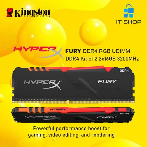 Foto Produk Kingston HyperX Furry DDR4 RGB 32GB (16GB x 2) 3200Mhz dari IT-SHOP-ONLINE
