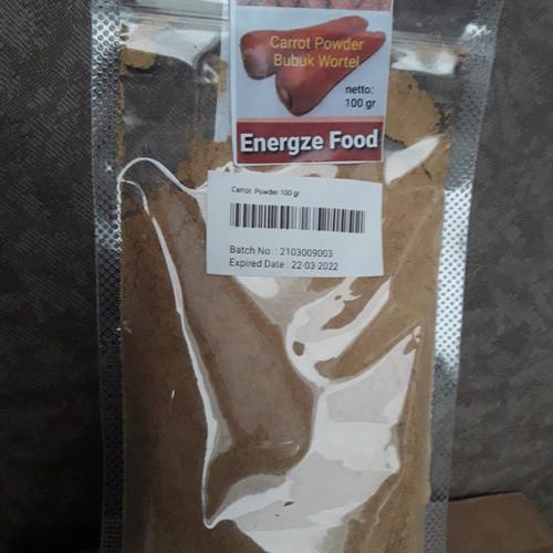 Foto Produk Wortel Bubuk Powder - Energze Food 100 gram dari energzewatercom