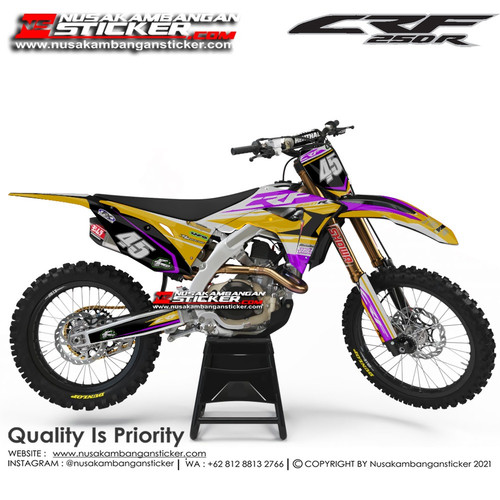 Foto Produk Stiker CRF 250 45 Kuning Ungu dari Nusakambangan Sticker01