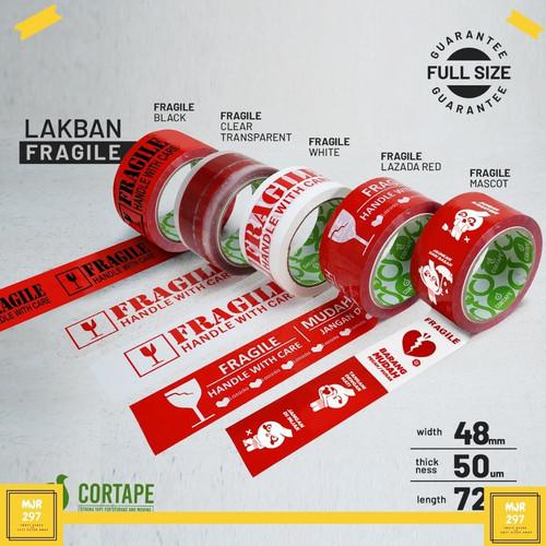 Foto Produk LAKBAN FRAGILE | JANGAN DIBANTING | HANDLE WITH CARE | ANTI PATAH HATI - MERAH HITAM dari MJR297