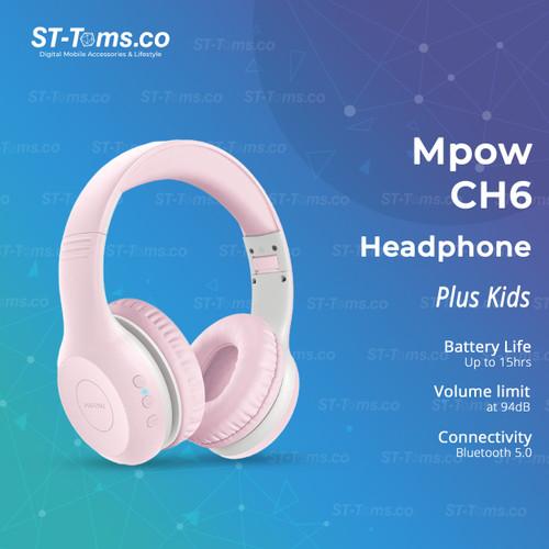 Foto Produk MPOW CH6 / CH 6 Plus Kids Headphone Bluetooth Wireless - MPBH441AP Pink dari ST-Toms.co