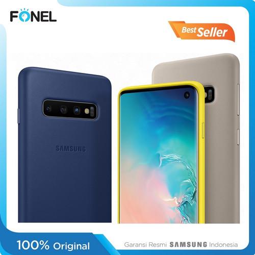 Foto Produk Samsung Leather Cover Casing for Samsung Galaxy S10 - White dari FONEL