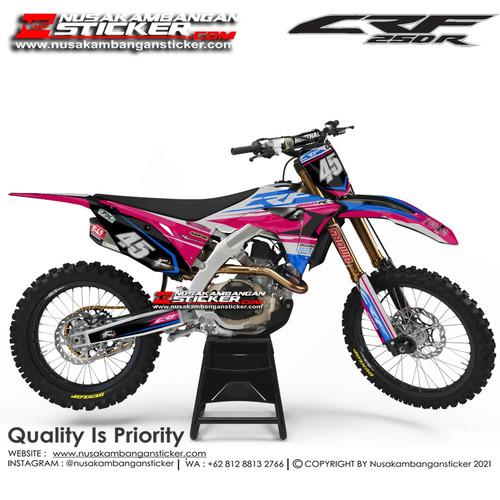 Foto Produk Stiker CRF 250 45 Pink Biru dari Nusakambangan Sticker01