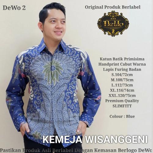 Foto Produk kemeja batik premium wisangenni biru dari Jivan Batik