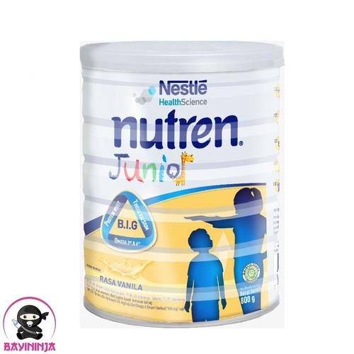 Foto Produk NUTREN Junior 1-10 Tahun Vanila Susu Complete Nutrition Tin 800g 800 g dari BAYININJA