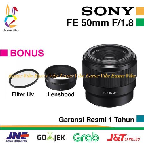 Foto Produk SONY LENS FE 50mm F1.8 LENSA FULL FRAME, GARANSI RESMI SONY INDONESIA dari EasterVibe