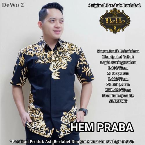 Foto Produk hem batik slimfit praba premium dari Jivan Batik