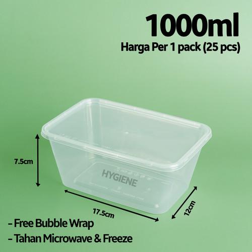 Foto Produk Kotak Plastik 1000 ml / Thinwall / Persegi Panjang dari Hygiene Indonesia