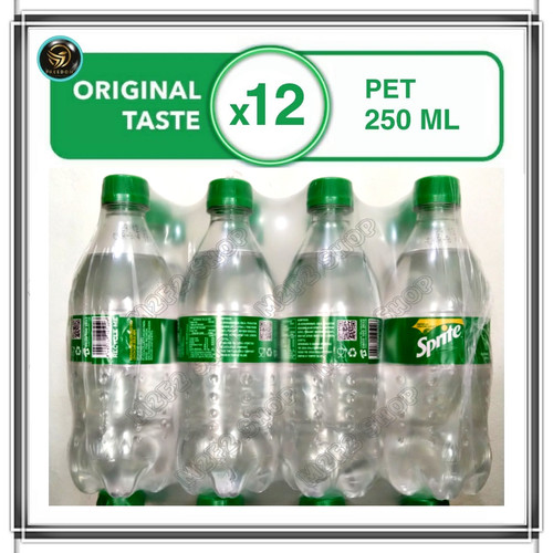 Foto Produk Coca Cola/Fanta/Sprite Botol Pet - 250 ml (Khusus Gojek/Grab) - Sprite dari M2F2 Shop