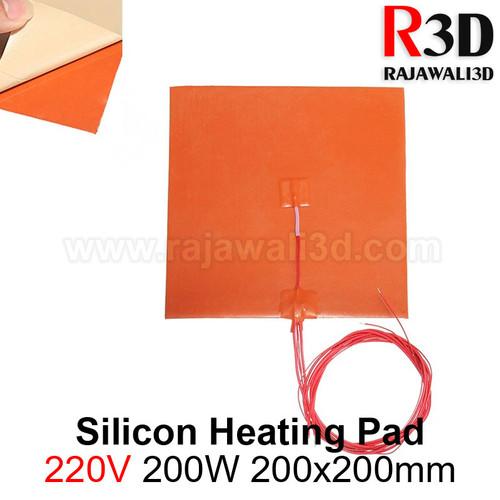 Foto Produk Silicon Heating Pad 220V 200W 200x200mm Heater Silicon Heat Bed dari Rajawali 3D