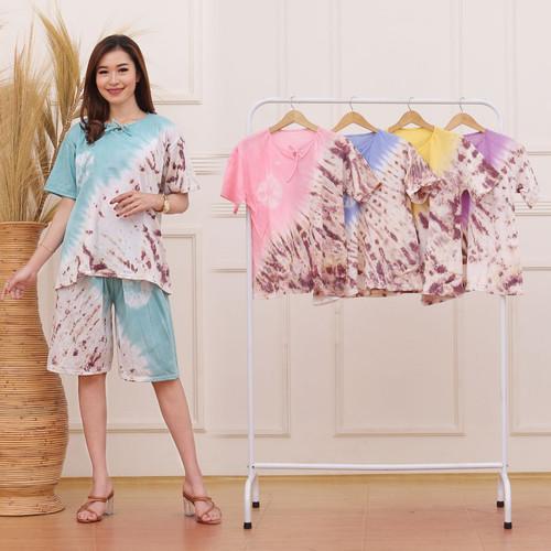 Foto Produk setelan batik celana pendek bahan kaos-setelan baju santai wanita - 1 dari Tiga Bintang Jaya
