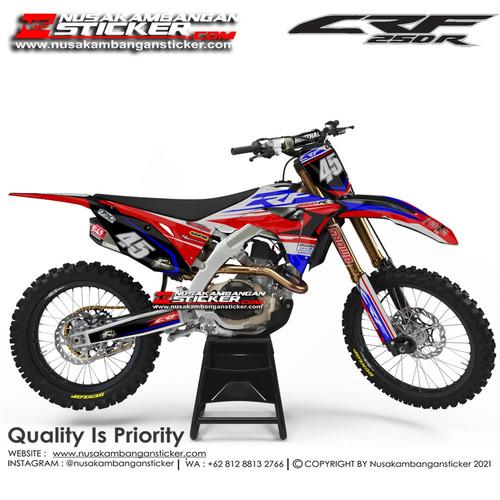 Foto Produk Stiker CRF 250 45 Merah Biru dari Nusakambangan Sticker01