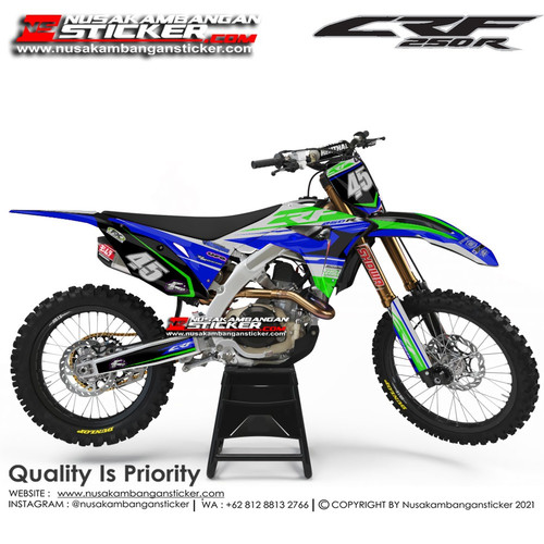 Foto Produk Stiker CRF 250 45 Biru Hijau dari Nusakambangan Sticker01