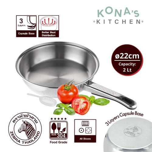 Foto Produk Zebra Frying Pan 22 Cm Vitalux (175323) / Wajan Goreng dari Kona's Kitchen